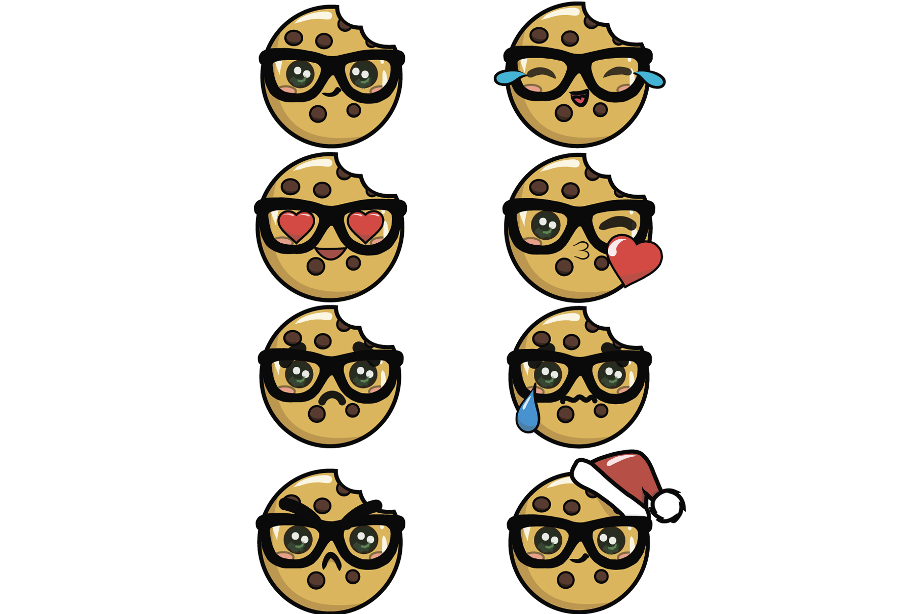 Download Free Cookies Emoji Graphic By Sasha Brazhnik Creative Fabrica for Cricut Explore, Silhouette and other cutting machines.