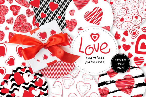 Love Seamless Patterns Graphic By Nata Art Graphic