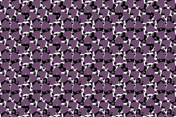Print on Demand: Abstract Vector Hearts Pattern Design Graphic Patterns By PatternHousePk