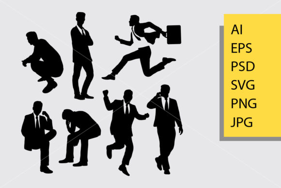 Businessman Activity Silhouette Graphic Illustrations By Cove703