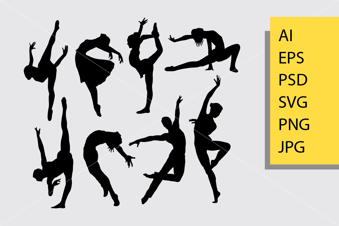 Download Free Dancer Silhouette Graphic By Cove703 Creative Fabrica for Cricut Explore, Silhouette and other cutting machines.