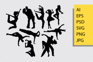 People Dancing Silhouette Graphic By Cove703