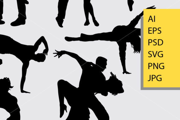 Download Free People Dancing Silhouette Graphic By Cove703 Creative Fabrica for Cricut Explore, Silhouette and other cutting machines.