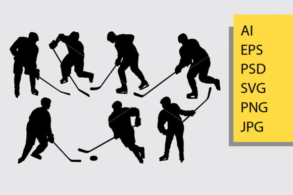 Download Free Hockey Sport Silhouette Graphic By Cove703 Creative Fabrica for Cricut Explore, Silhouette and other cutting machines.