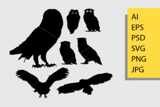 Owl Bird Silhouette Graphic By Cove703