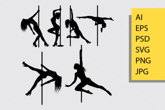 Pole Dancer Silhouette Graphic Illustrations By Cove703