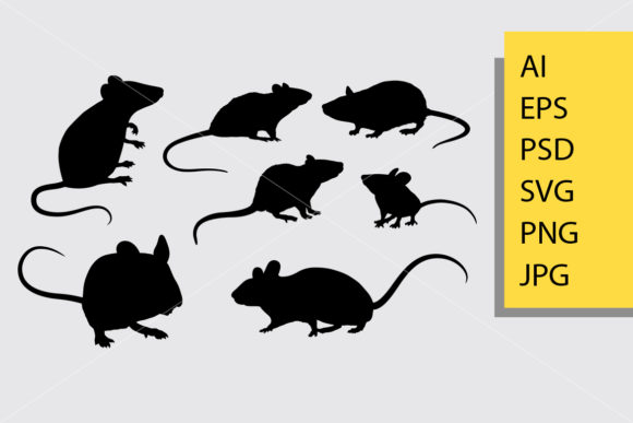 Rat Silhouette Graphic Illustrations By Cove703