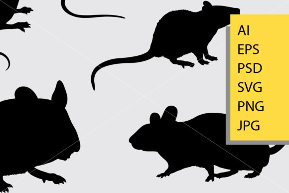 Rat Silhouette Graphic Illustrations By Cove703 - Image 2