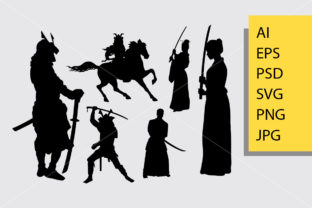 Download Free Samurai Riding Horse Silhouette Graphic By Cove703 Creative for Cricut Explore, Silhouette and other cutting machines.