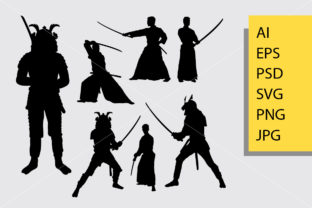 Download Free Samurai Japan Silhouette Graphic By Cove703 Creative Fabrica for Cricut Explore, Silhouette and other cutting machines.