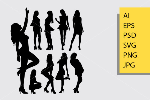 Sexy Girl Silhouette Graphic Illustrations By Cove703