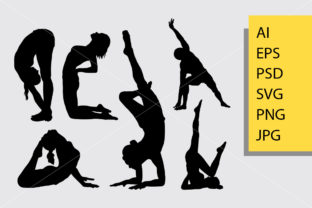 Yoga Silhouette Graphic By Cove703
