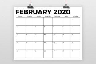 Print on Demand: 8.5 X 11 Inch Bold 2020 Calendar Graphic Print Templates By Running With Foxes 2