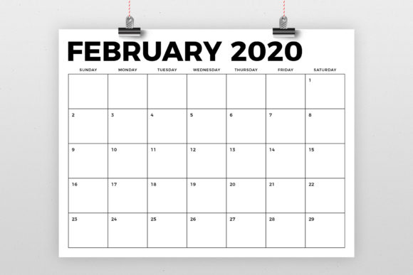 8.5 X 11 Inch Bold 2020 Calendar Graphic By Running With Foxes Image 2