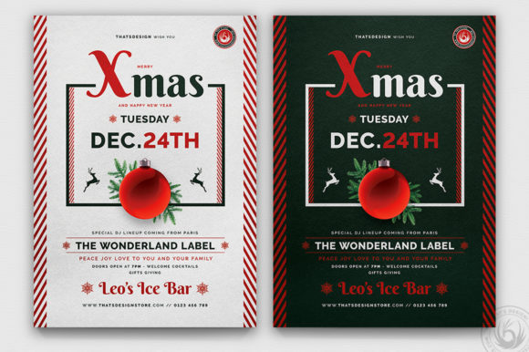 Christmas Eve Flyer Template V12 Graphic Print Templates By ThatsDesignStore