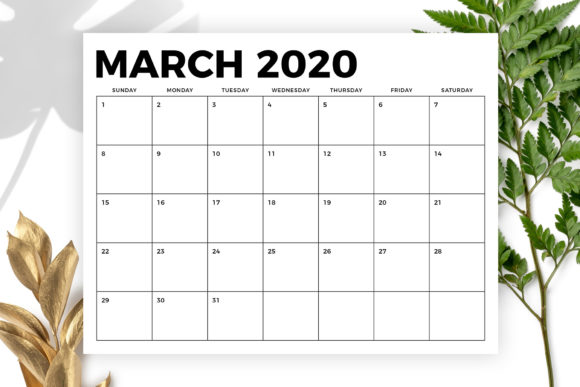 8.5 X 11 Inch Bold 2020 Calendar Graphic By Running With Foxes Image 3