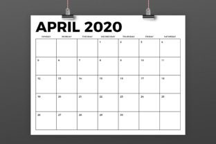 Print on Demand: 8.5 X 11 Inch Bold 2020 Calendar Graphic Print Templates By Running With Foxes 4