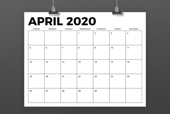 8.5 X 11 Inch Bold 2020 Calendar Graphic By Running With Foxes Image 4