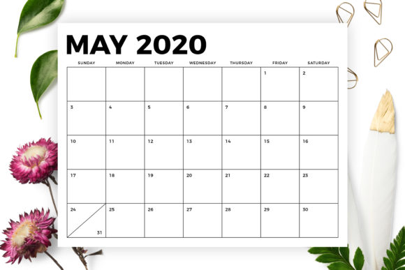 8.5 X 11 Inch Bold 2020 Calendar Graphic By Running With Foxes Image 5