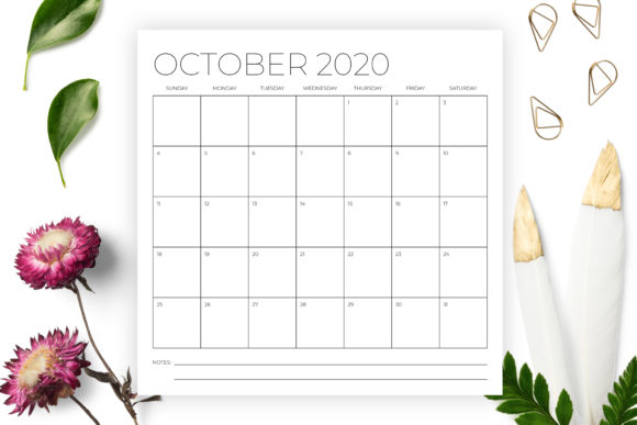 12 X 12 Inch Minimal 2020 Calendar Graphic By Running With Foxes Image 5