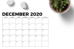 Print on Demand: 8.5 X 11 Inch Bold 2020 Calendar Graphic Print Templates By Running With Foxes 6