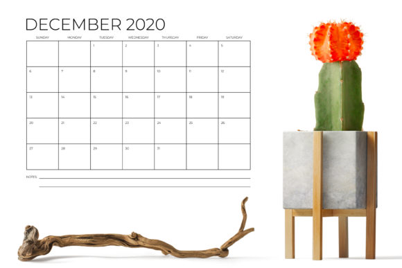 8.5 X 11 Inch Minimal 2020 Calendar Graphic By Running With Foxes Image 6