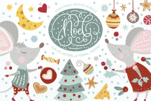 Print on Demand: Noel Christmas Mouse Bundle Graphic Illustrations By Red Ink