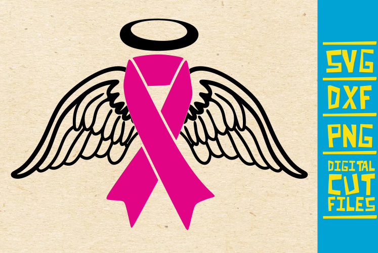 Download Free Angel Wings Svg Breast Cancer Survive Graphic By for Cricut Explore, Silhouette and other cutting machines.