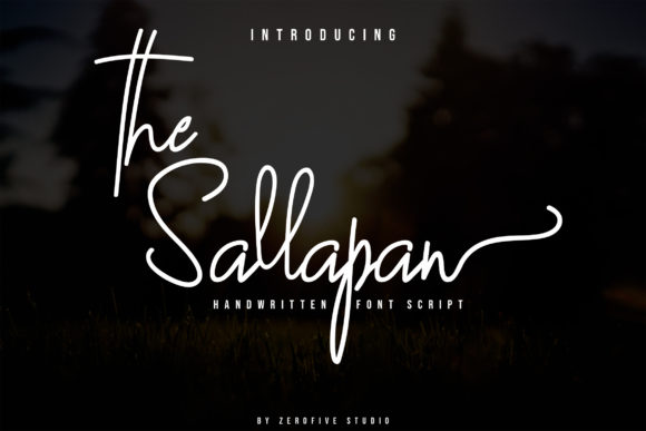 Print on Demand: The Sallapan Script & Handwritten Font By zerofivestudio