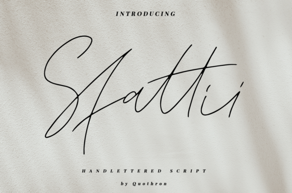 Print on Demand: Sfattii Script & Handwritten Font By it_was_a_good_day