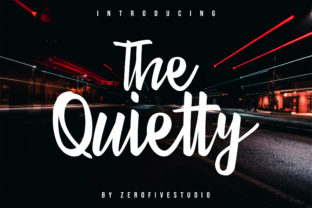 The Quietty Script & Handwritten Font By zerofivestudio