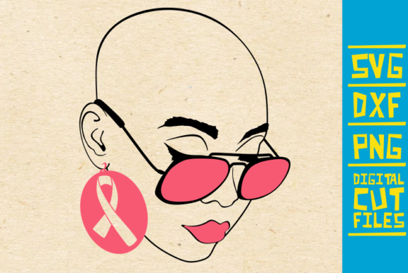 Bald Woman With Glasses Svg Cancer Svg Graphic By