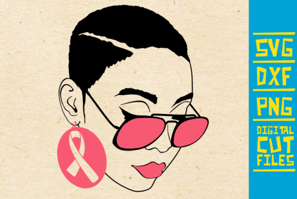 Download Free Woman With Glasses Svg Breast Cancer Graphic By for Cricut Explore, Silhouette and other cutting machines.