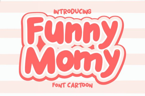 Print on Demand: Funny Momy Slab Serif Font By aksarangga