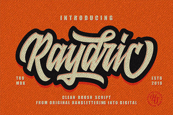 Print on Demand: Raydric Script + Shadow Outline Script & Handwritten Font By Hanzel Studio - Image 1