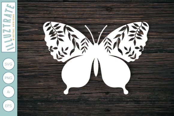 Print on Demand: Romantic Butterly SVG Cut File Graphic Crafts By illuztrate