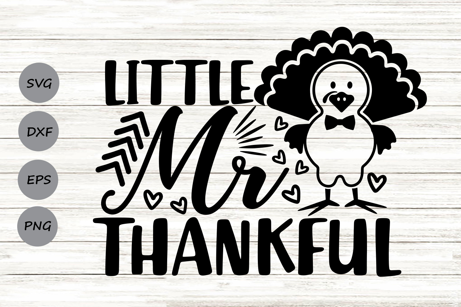 Download Free Little Mr Thankful Svg Graphic By Cosmosfineart Creative Fabrica for Cricut Explore, Silhouette and other cutting machines.