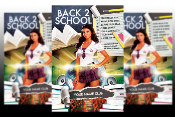 Print on Demand: Back to School Flayer Template Graphic Print Templates By Matthew Design