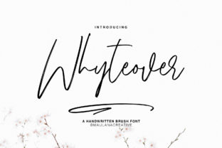 Print on Demand: Whyteover Script & Handwritten Font By Maulana Creative