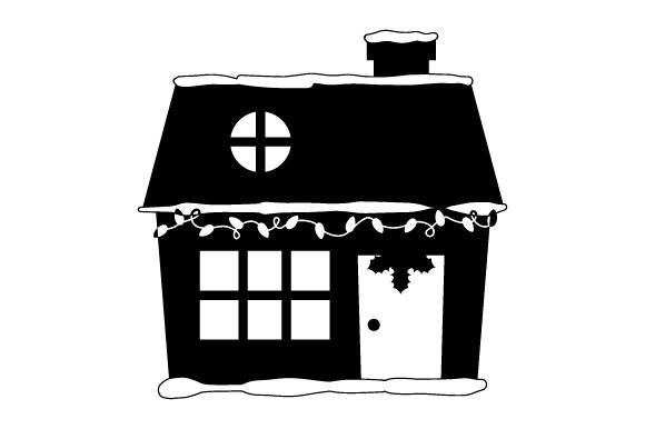 Download Free House With Christmas Lights Svg Cut File By Creative Fabrica SVG Cut Files
