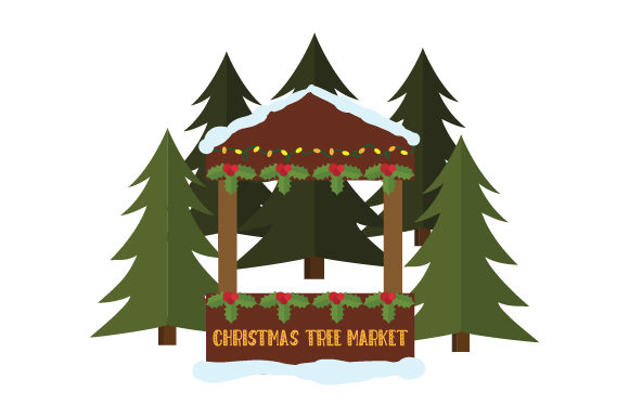 Christmas Tree Market Christmas Craft Cut File By Creative Fabrica Crafts