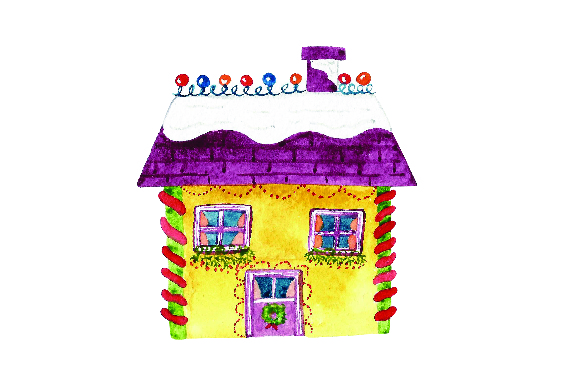 Download Free Yellow House With Christmas Lights Watercolor Svg Cut File By for Cricut Explore, Silhouette and other cutting machines.