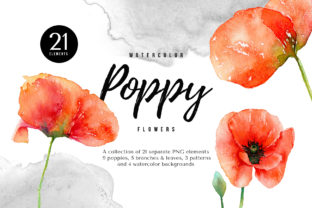 Watercolor Red Poppy Flowers Graphic By smpl.mrkt