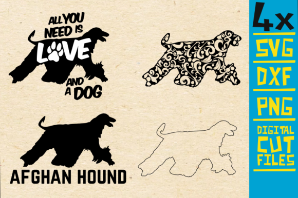 Download Free Afghan Hound Mandala Dog Vector Graphic By Svgyeahyouknowme for Cricut Explore, Silhouette and other cutting machines.