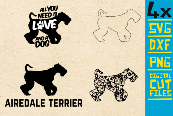 Download Free Airedale Terrier Mandala Dog Vector Graphic By for Cricut Explore, Silhouette and other cutting machines.