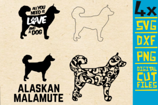 Download Free Alaskan Malamute Mandala Dog Graphic By Svgyeahyouknowme Creative Fabrica for Cricut Explore, Silhouette and other cutting machines.