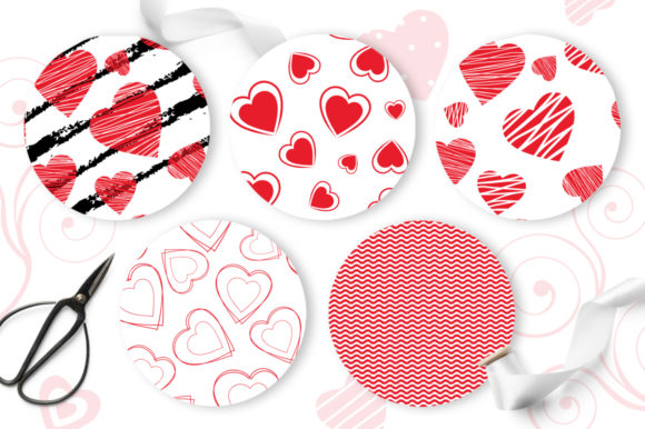 Print on Demand: Love Hearts Seamless Patterns Graphic Patterns By Nata Art Graphic - Image 3