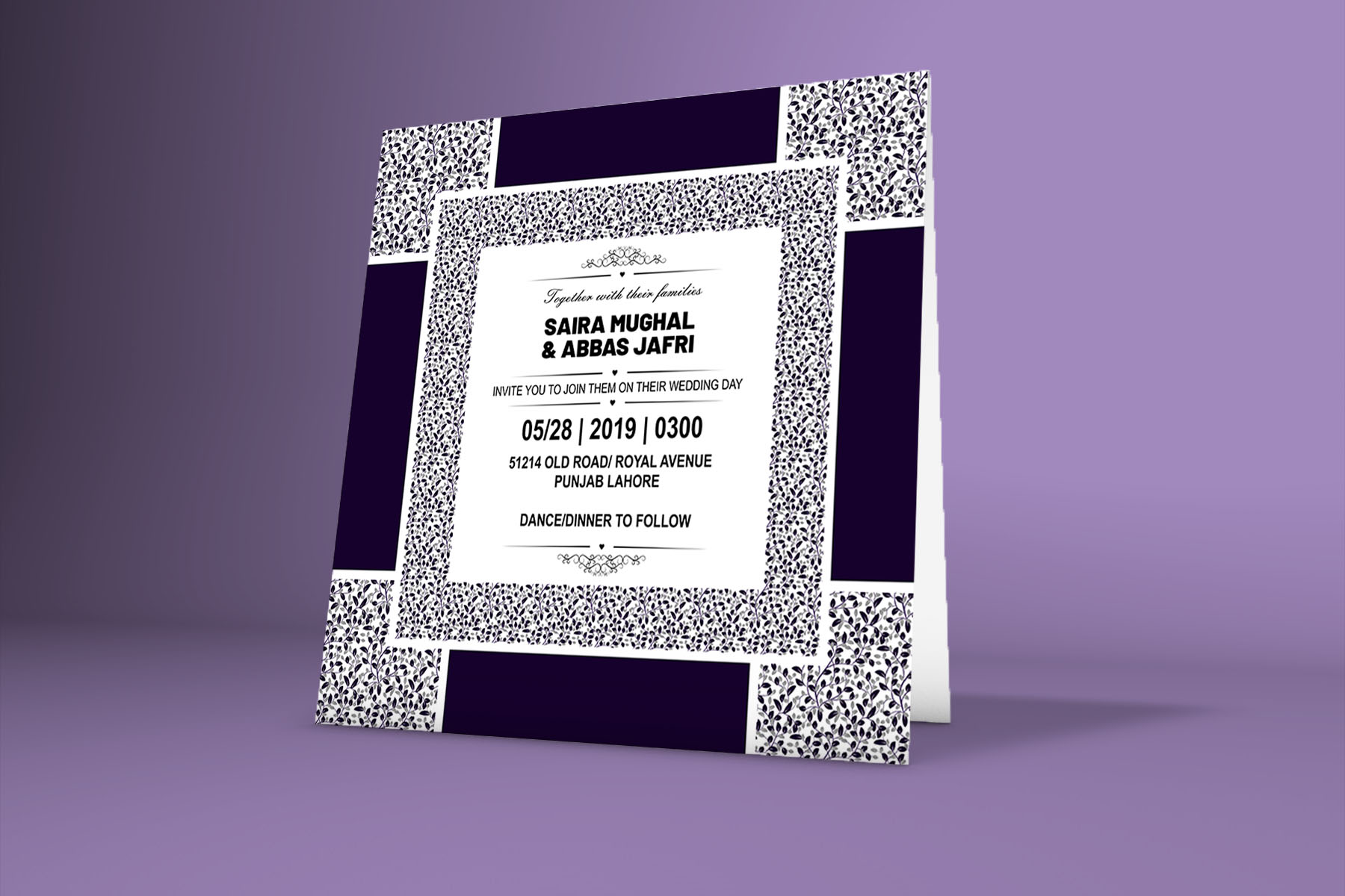 Download Free Classical Wedding Invitation Card Graphic By Patternhousepk for Cricut Explore, Silhouette and other cutting machines.