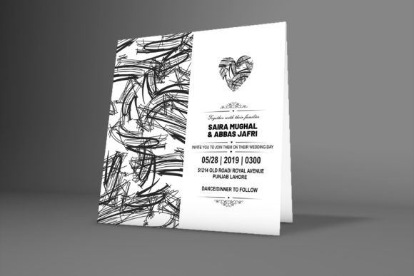 Print on Demand: Floral Wedding Invitation Card Graphic Graphic Templates By PatternHousePk