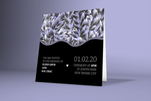 Print on Demand: Classical Wedding Invitation Card Graphic Graphic Templates By PatternHousePk